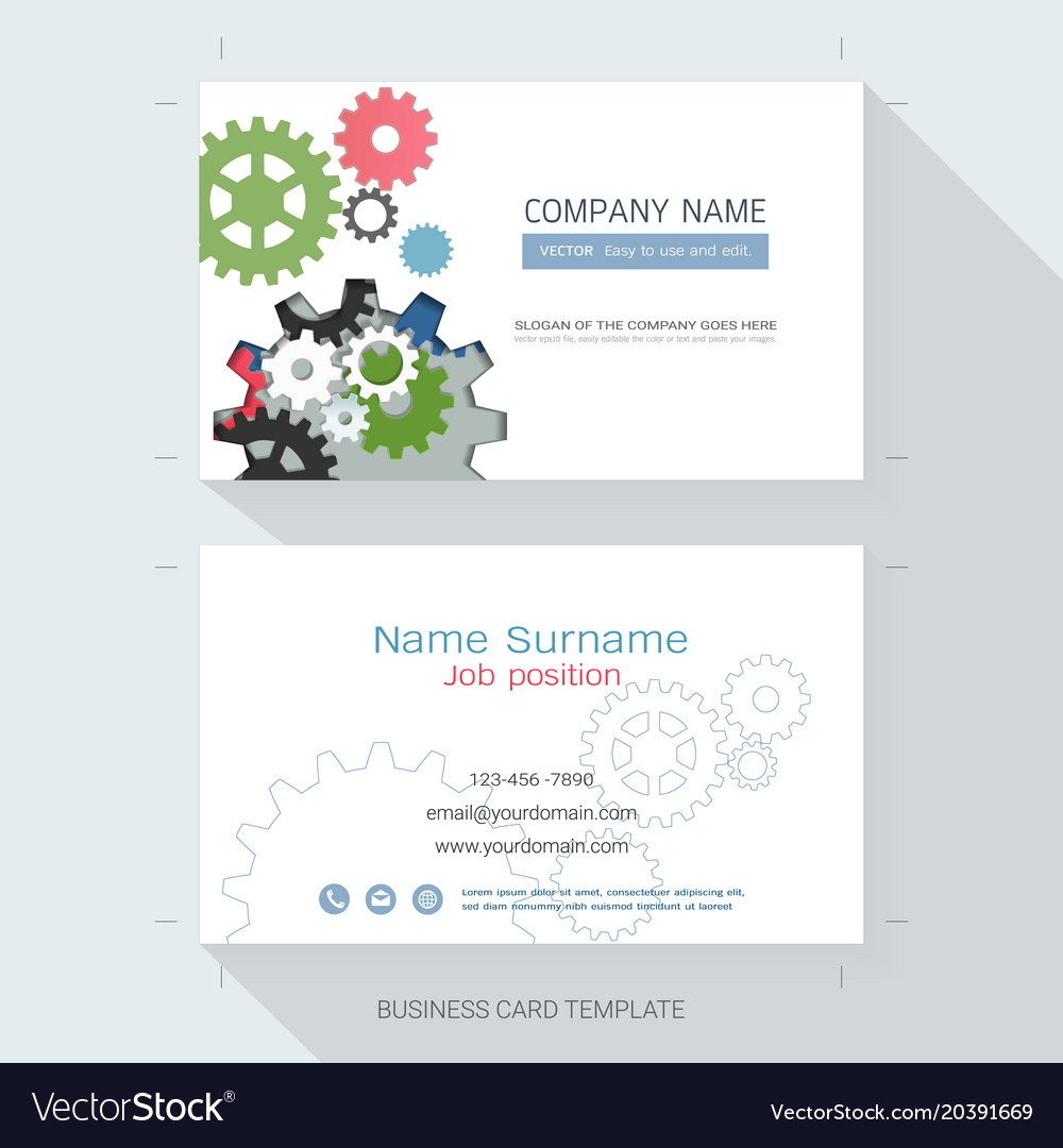 Engineering business card or name card template vector image accmission Images