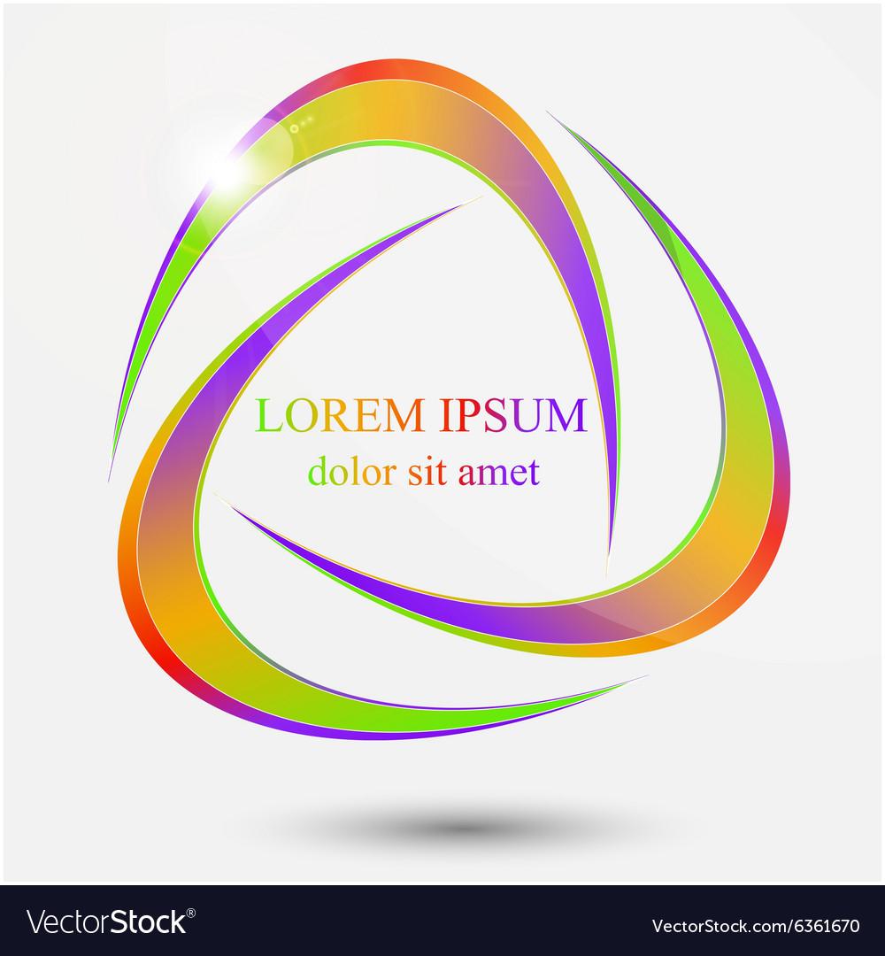 Abstract sphere swirl logo vector image