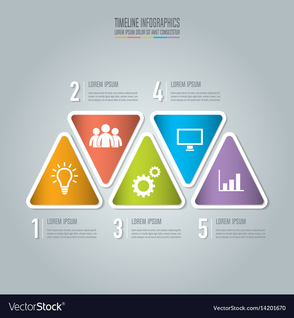 Creative concept for infographic timeline vector image