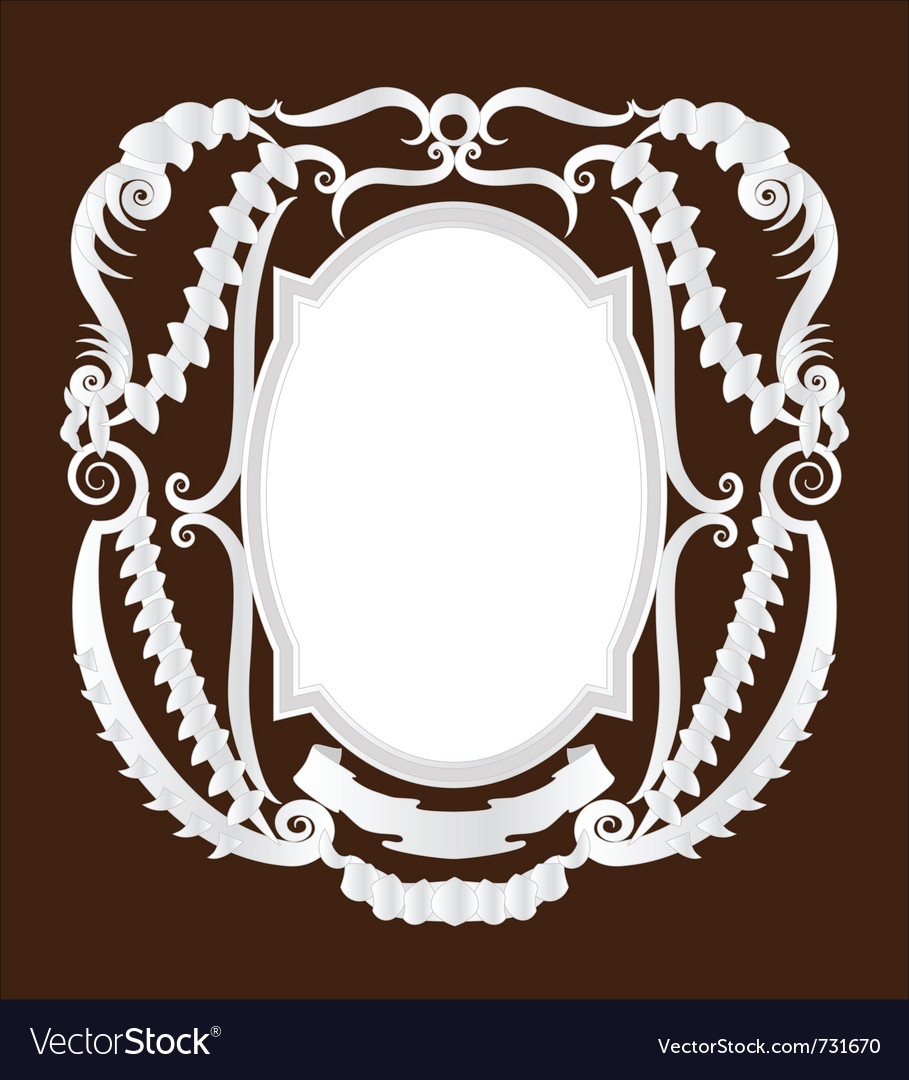 Empty pirate frame vector image
