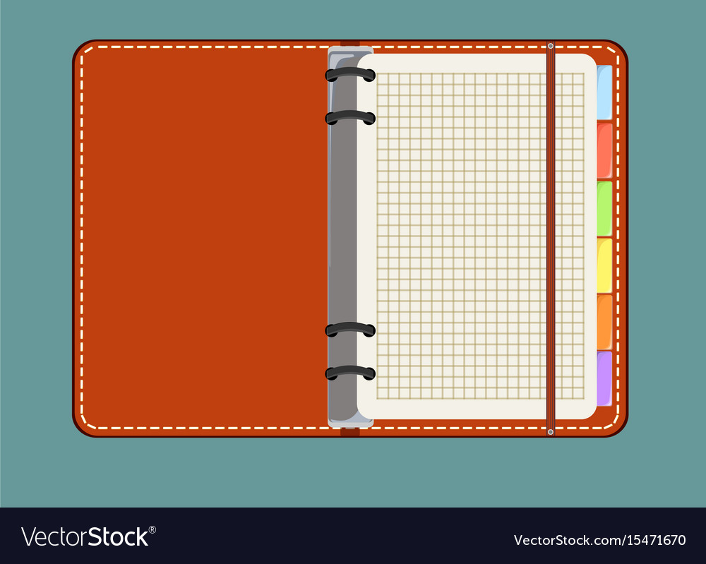 Flat design notepad with place for text vector image