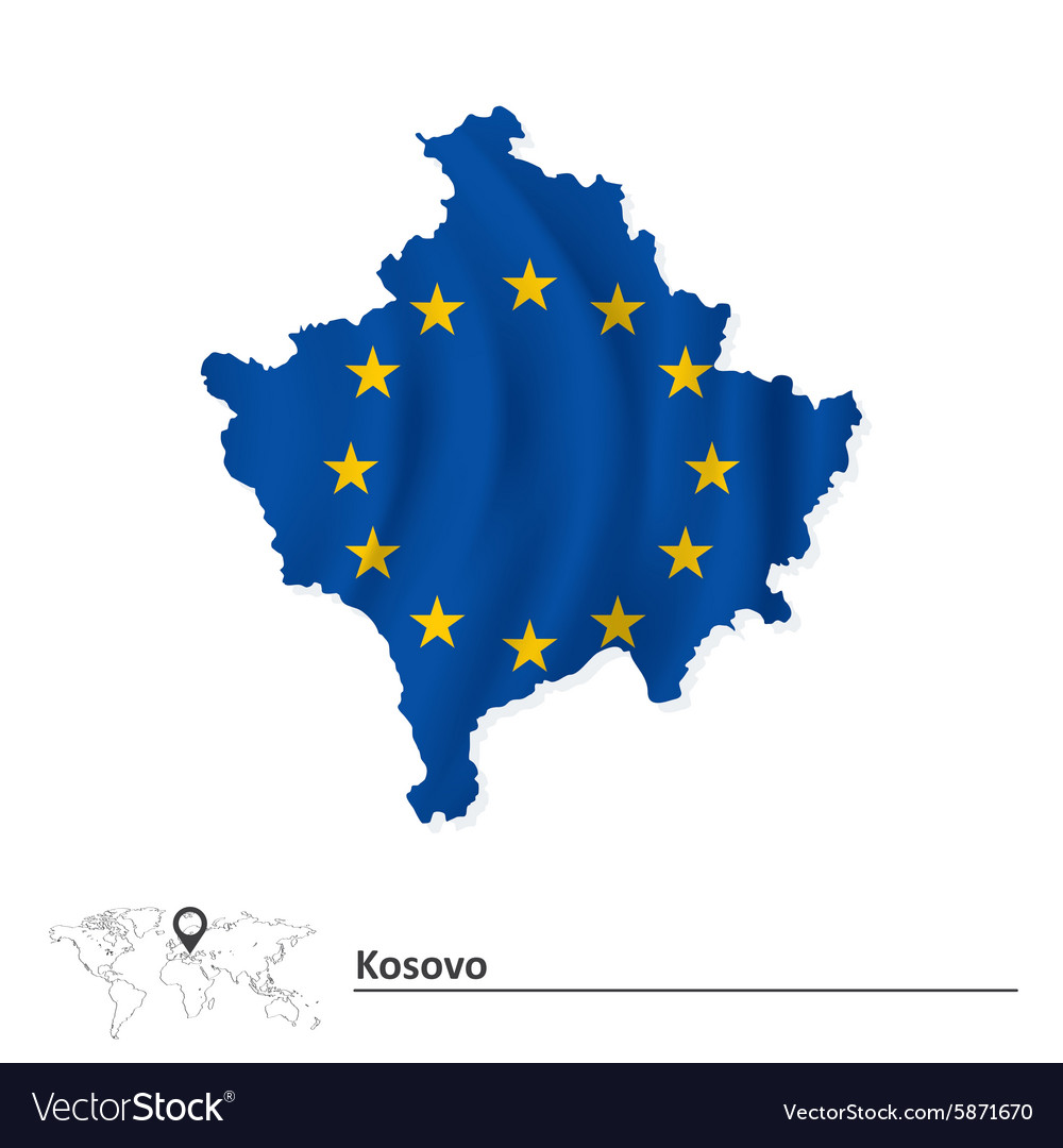 Kosovo Map In World.  Kosovo Map Vector Images 57