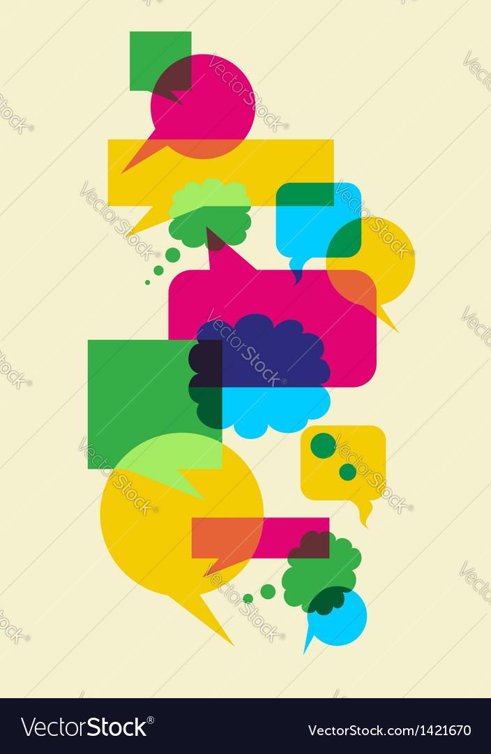Speech social interaction bubbles vector image