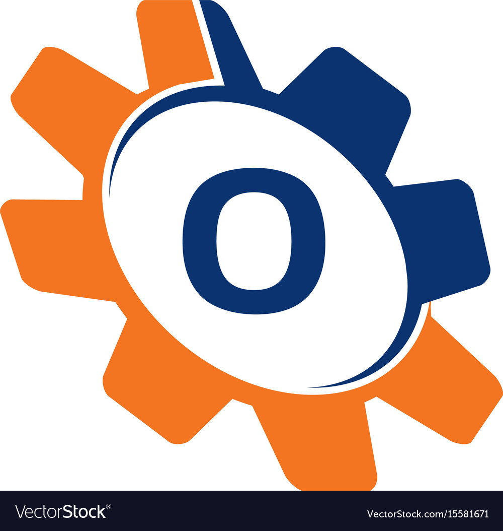 Gear initial o vector image