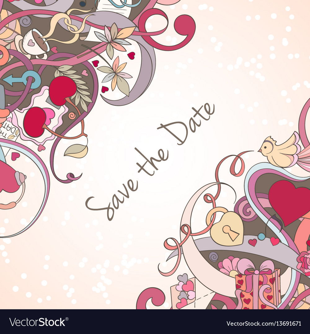 St valentine s day invitation card vector image
