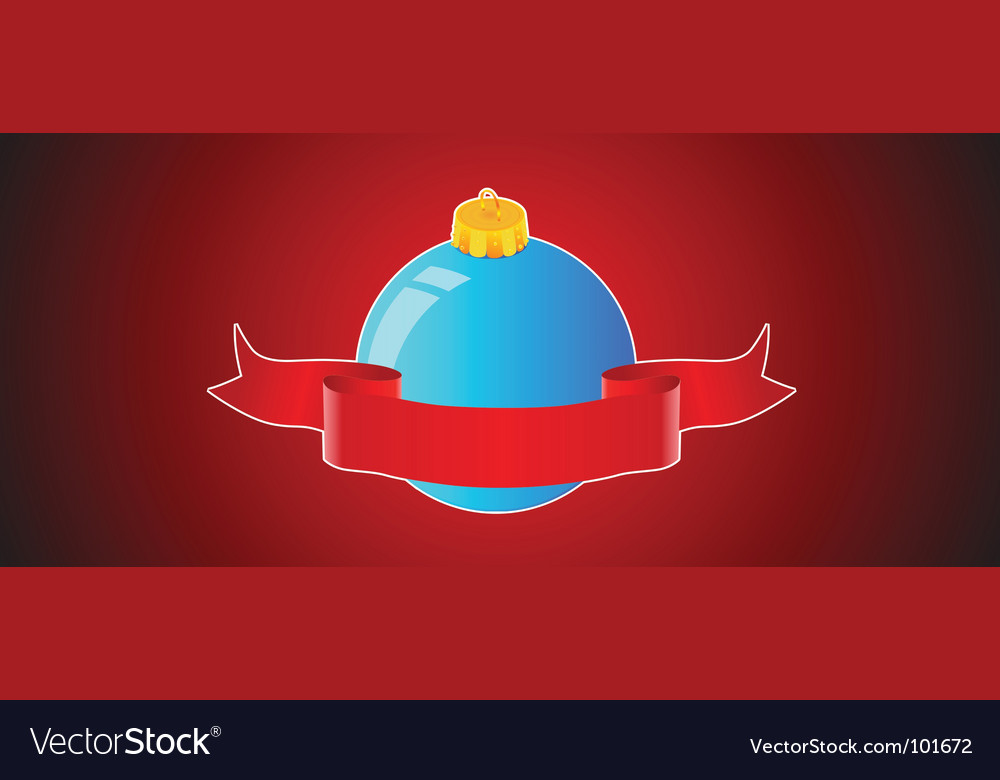 Christmas ball background banner vector image