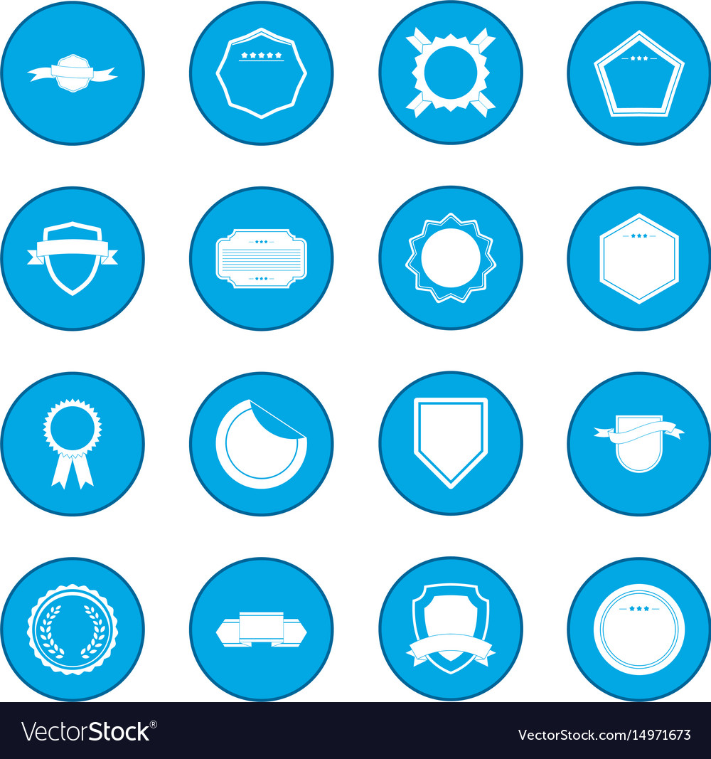 Badges icon blue vector image