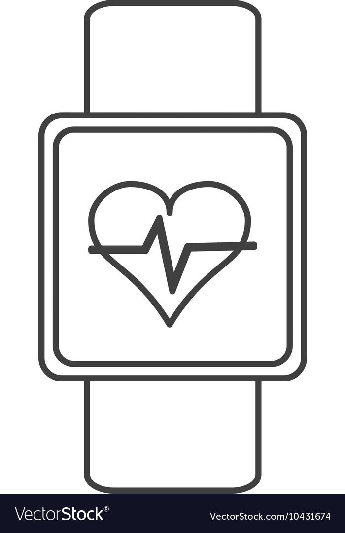 Heartbeat monitor wristband icon vector image