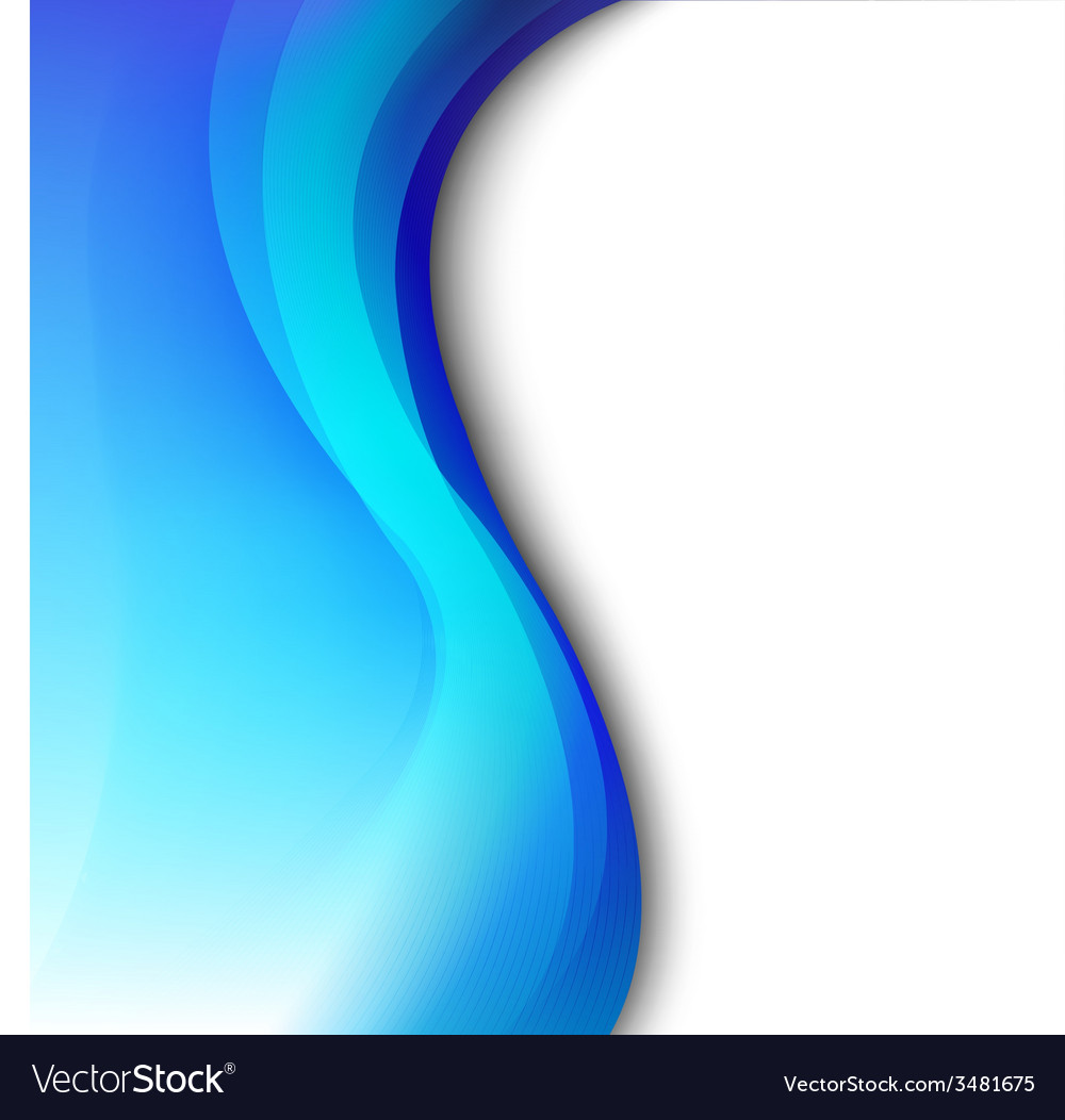 Blue Background With Abstract Line vector image