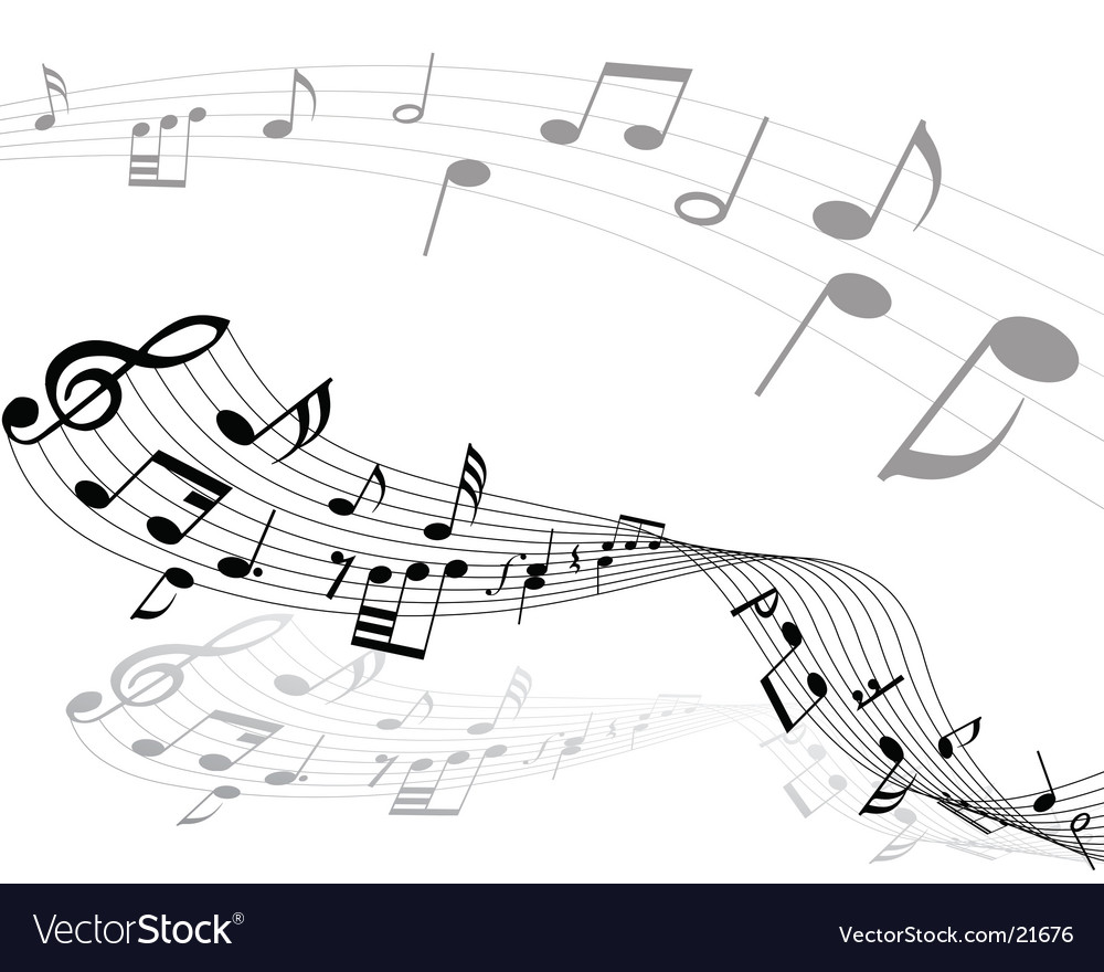 Notes lines vector image
