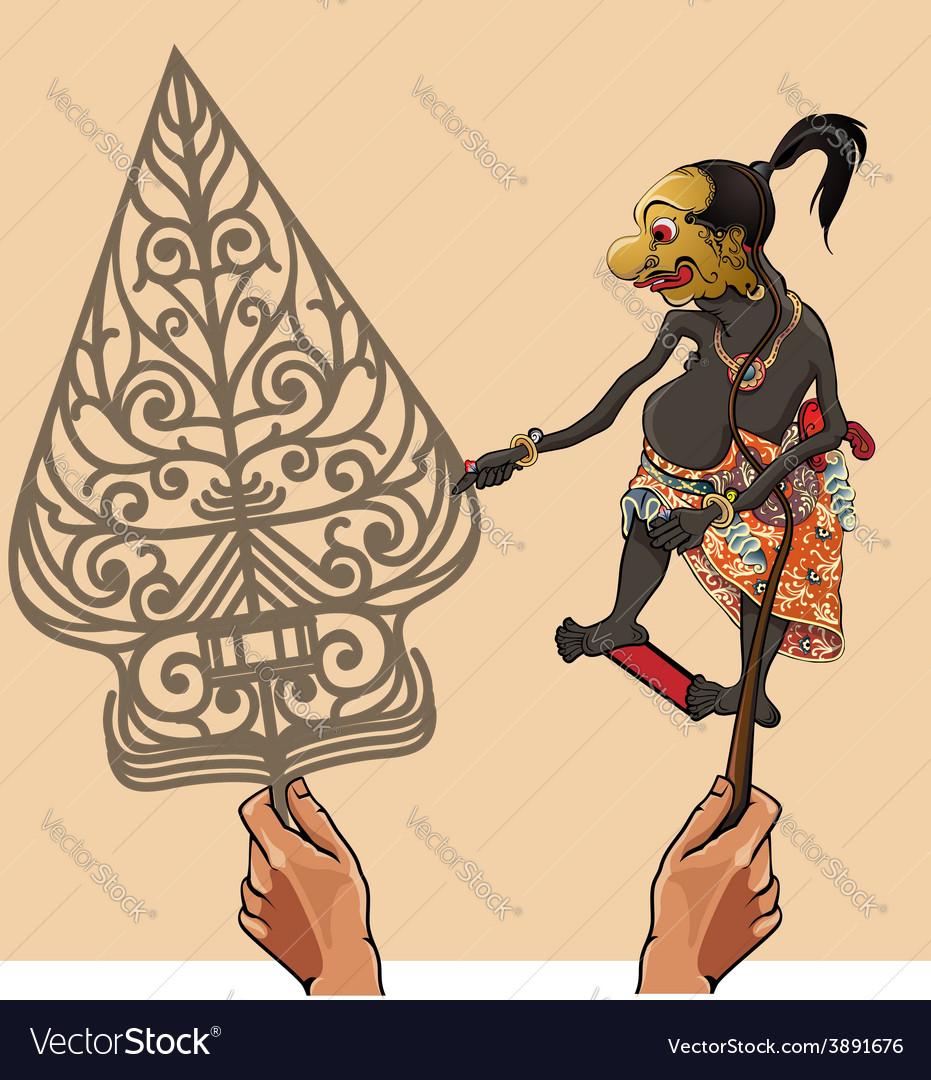 Wayang Gareng vector image