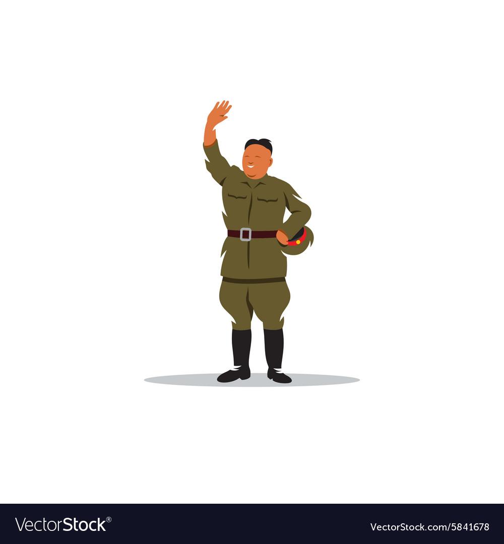 North Korean soldier in uniform sign vector image