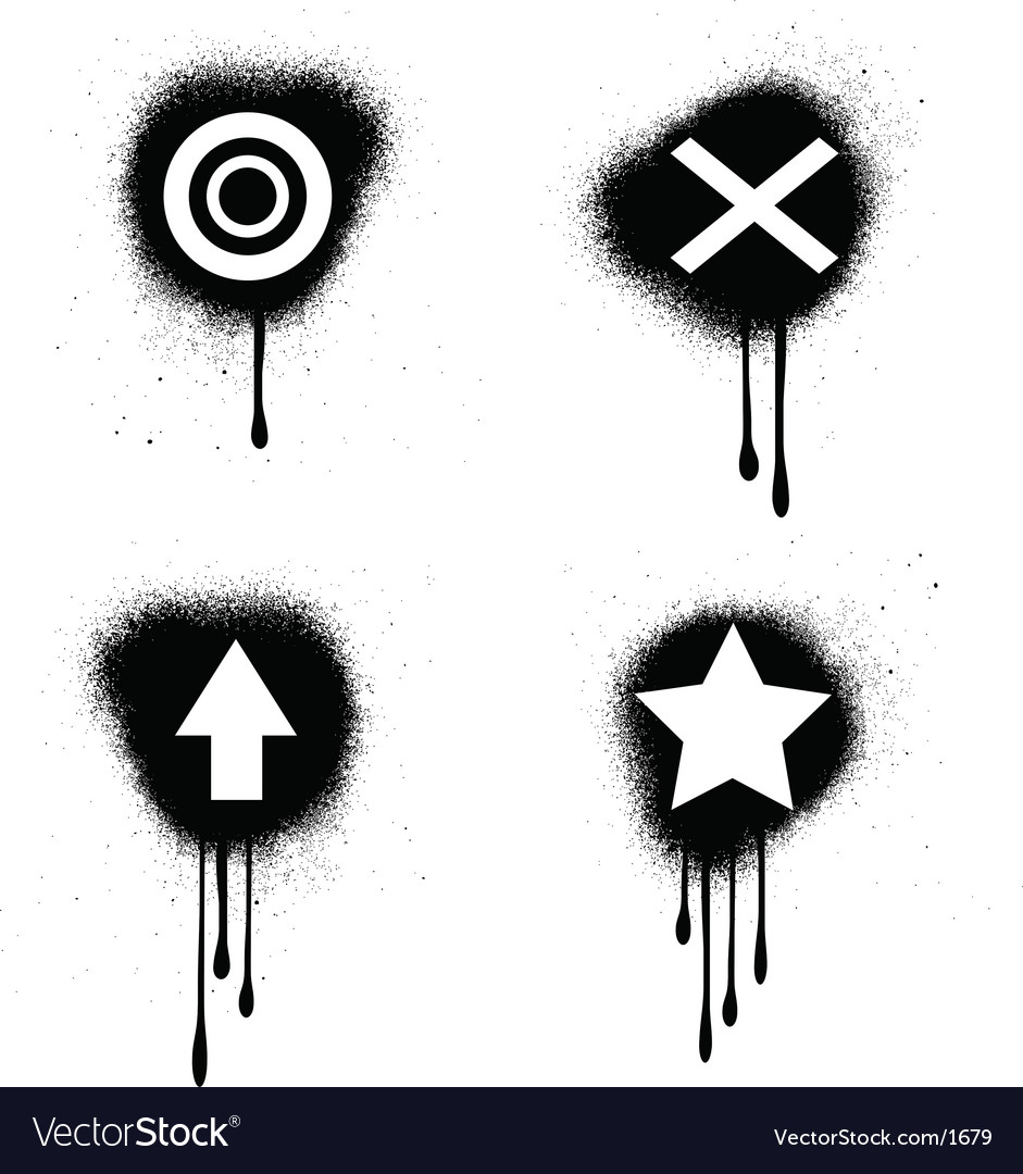 Grunge symbols vector image