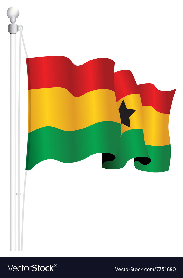 Ghana flag vector image