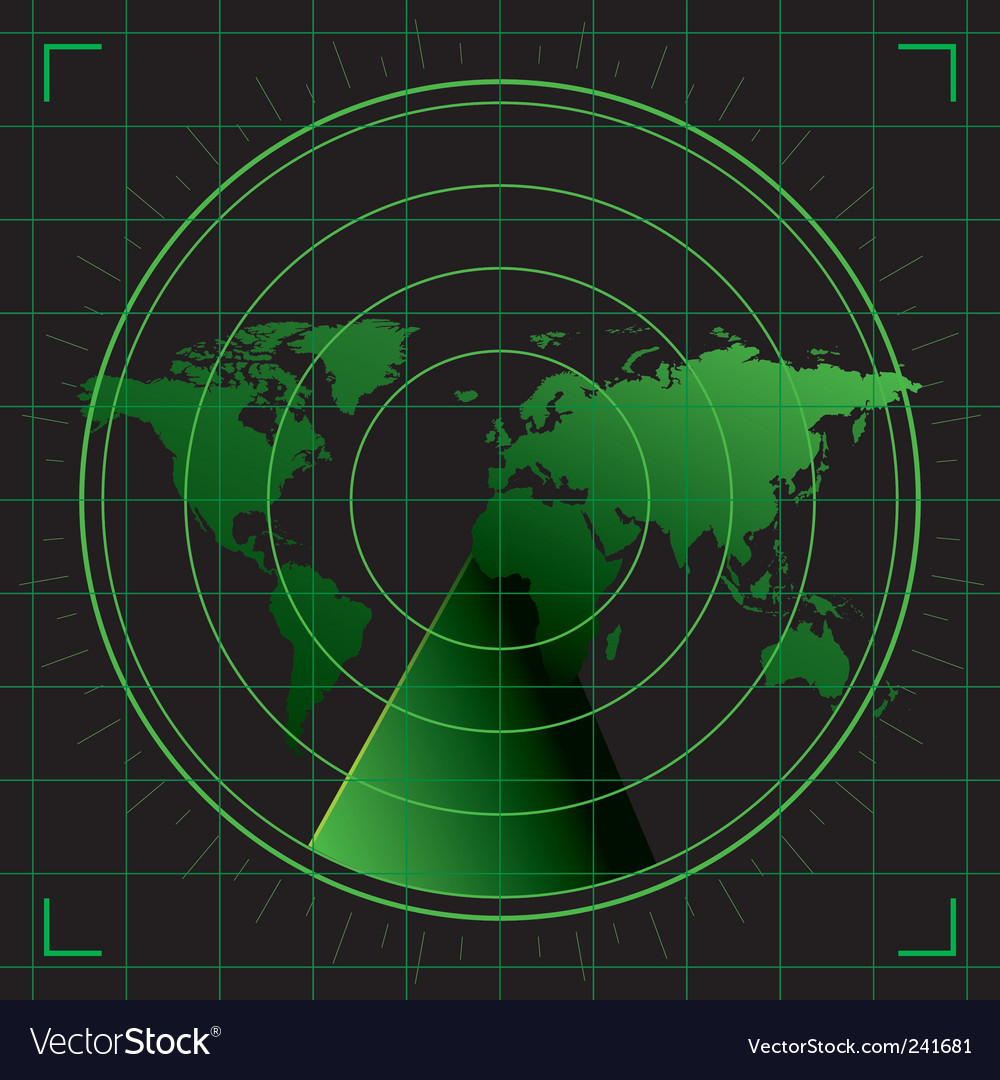 World radar vector image