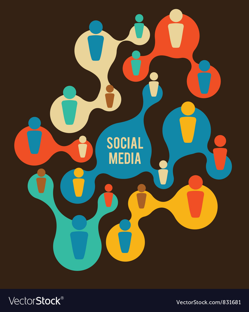 Social Media and network vector image