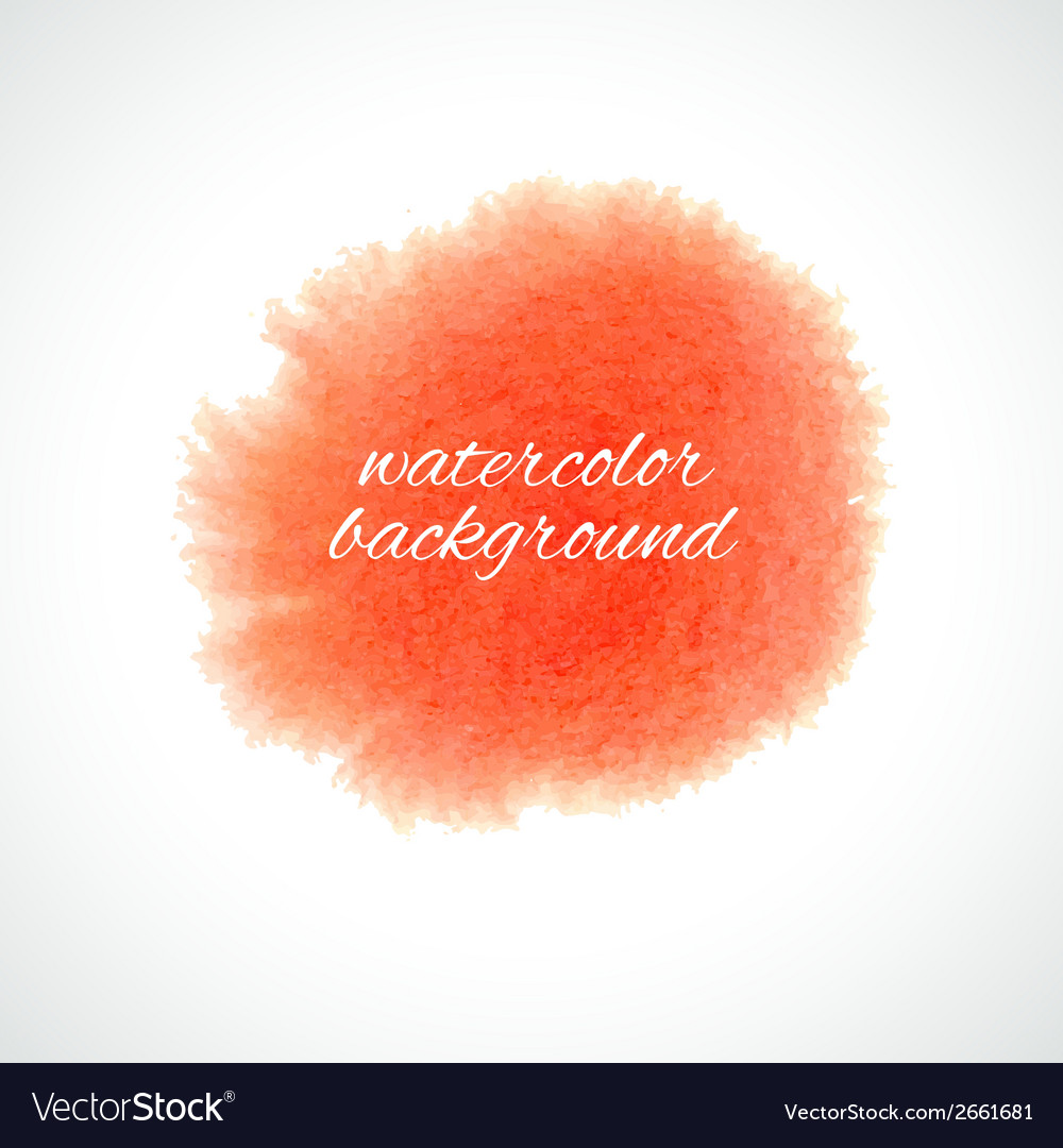 Background with watercolor splash vector image