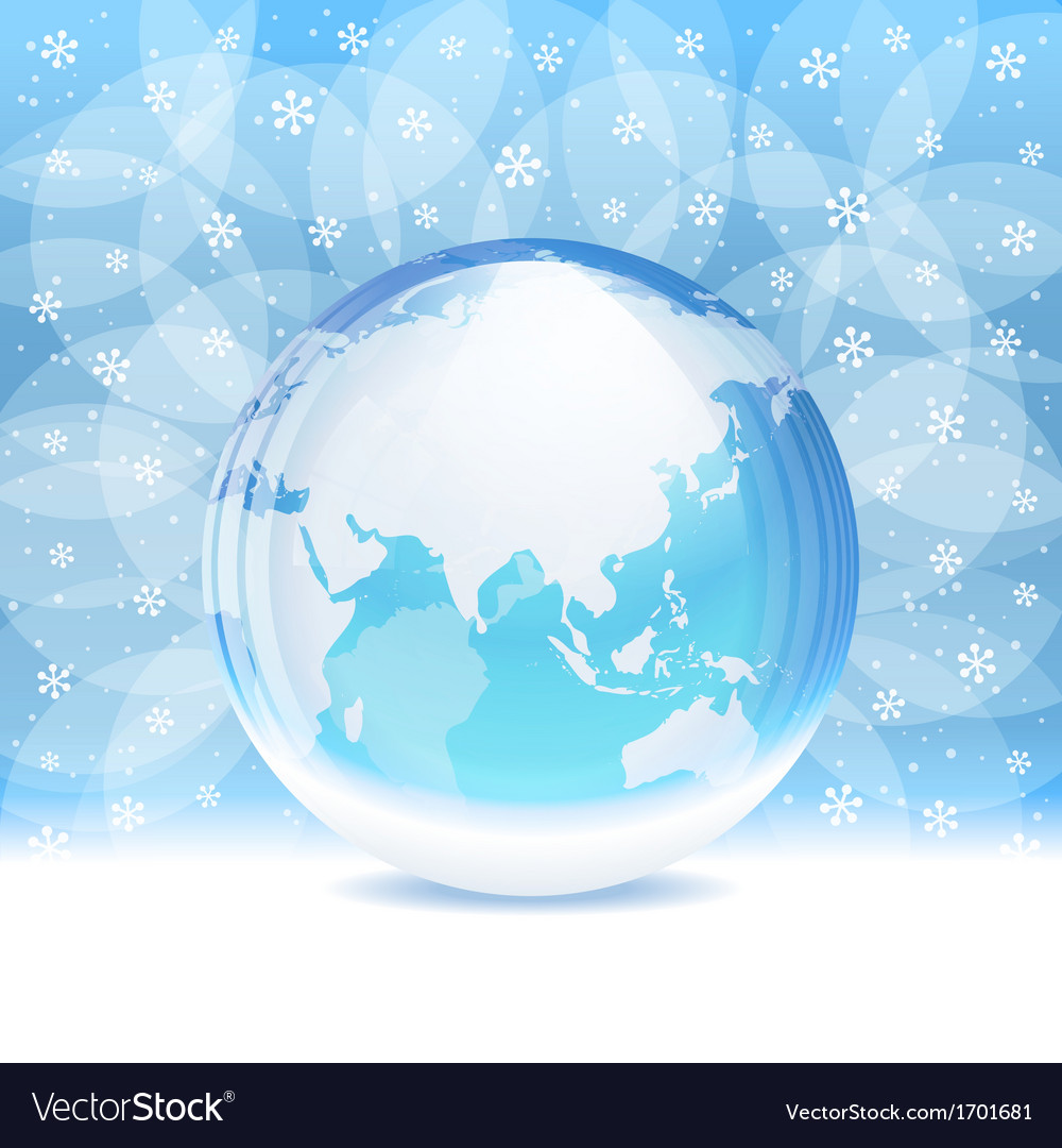 Transparent snow globe with map royalty free vector image transparent snow globe with map vector image gumiabroncs