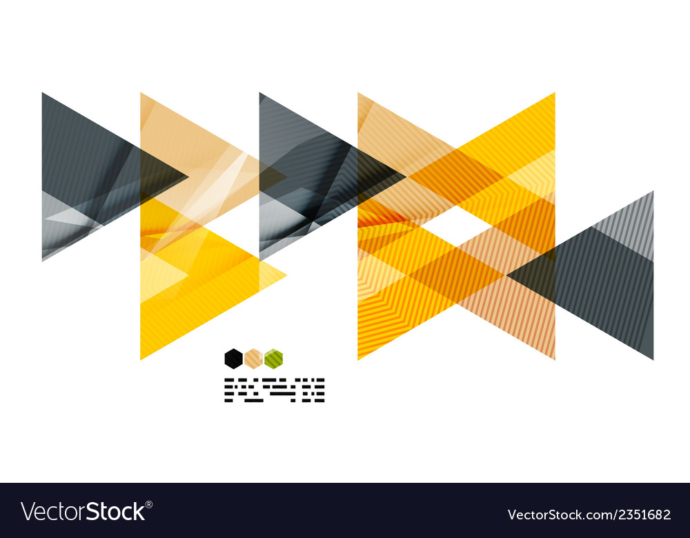 Bright yellow geometric modern design template vector image