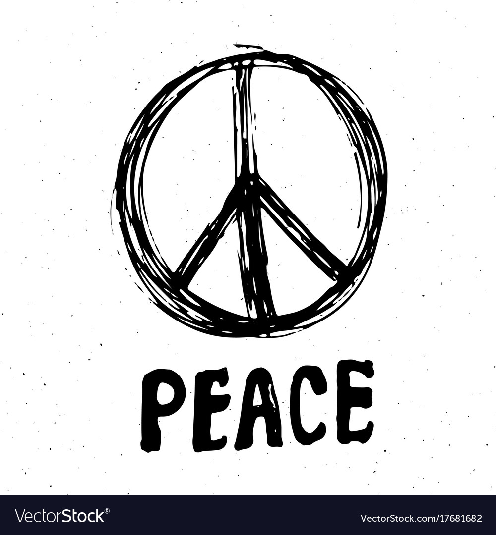 Peace symbol hand drawn grunge hippie or pacifist vector image peace symbol hand drawn grunge hippie or pacifist vector image biocorpaavc