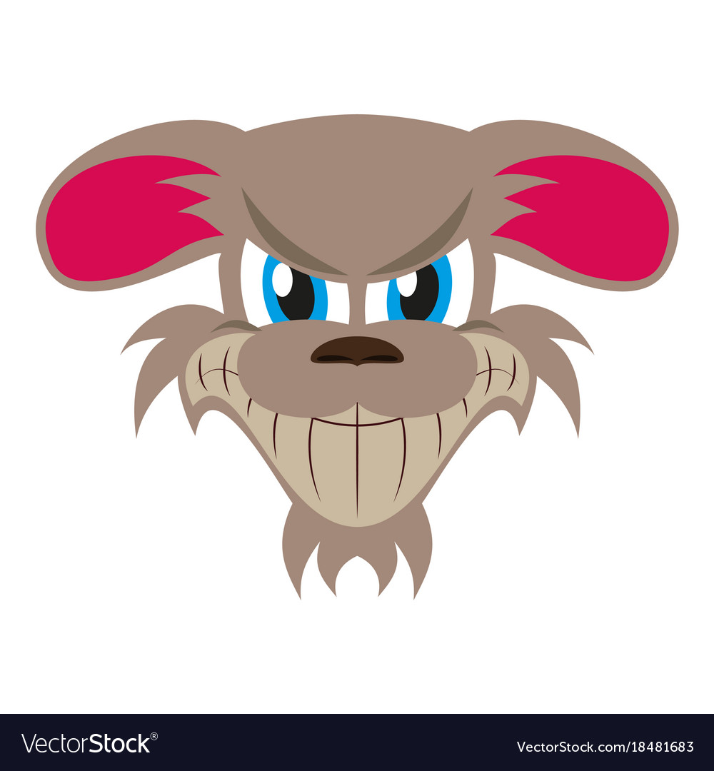Flat icon on theme evil animal angry dog