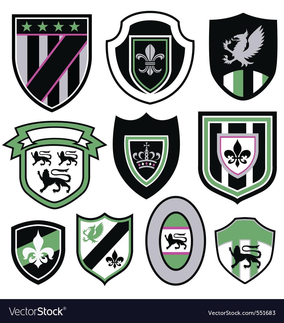 Royal emblem vector image