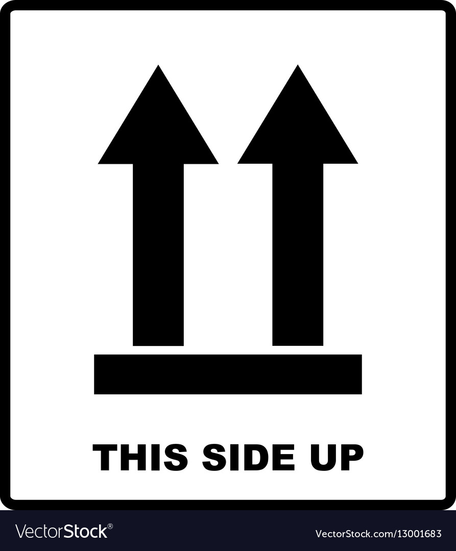 Top side This side up symbol Icon of Side Up vector image