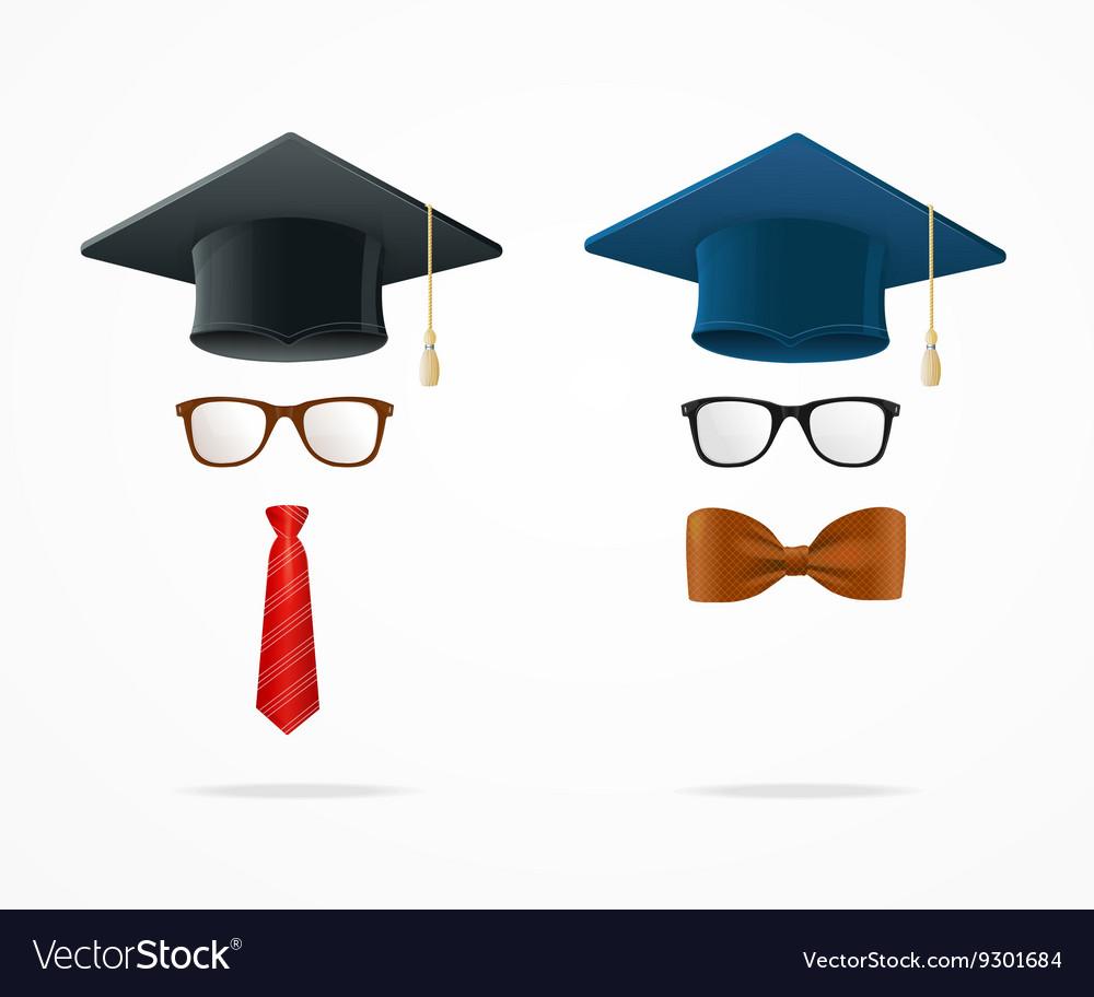 Professor Graduated Geek Sign Avatar vector image