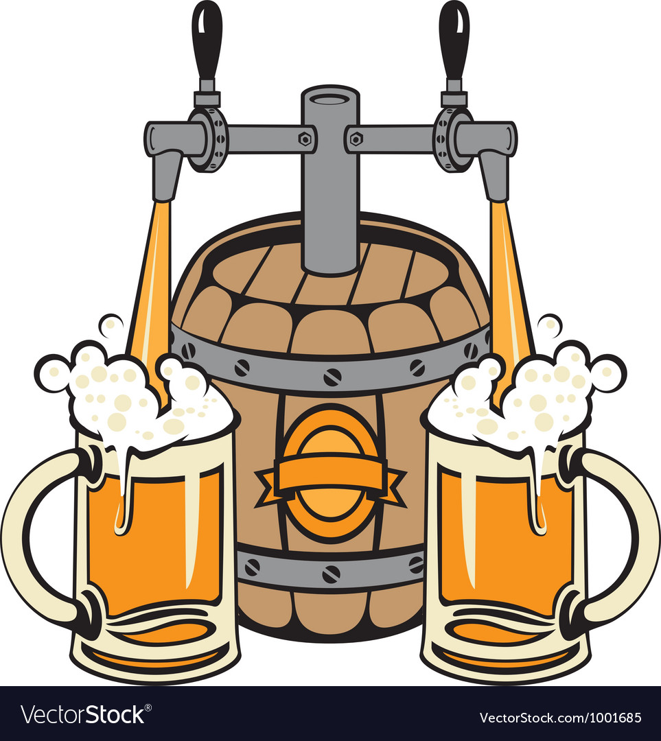 Beer pours vector image