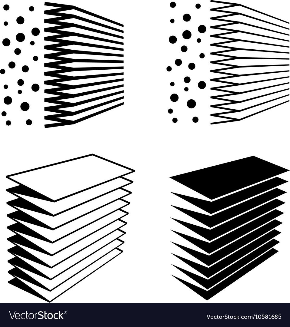 Air filter effect black symbol vector image