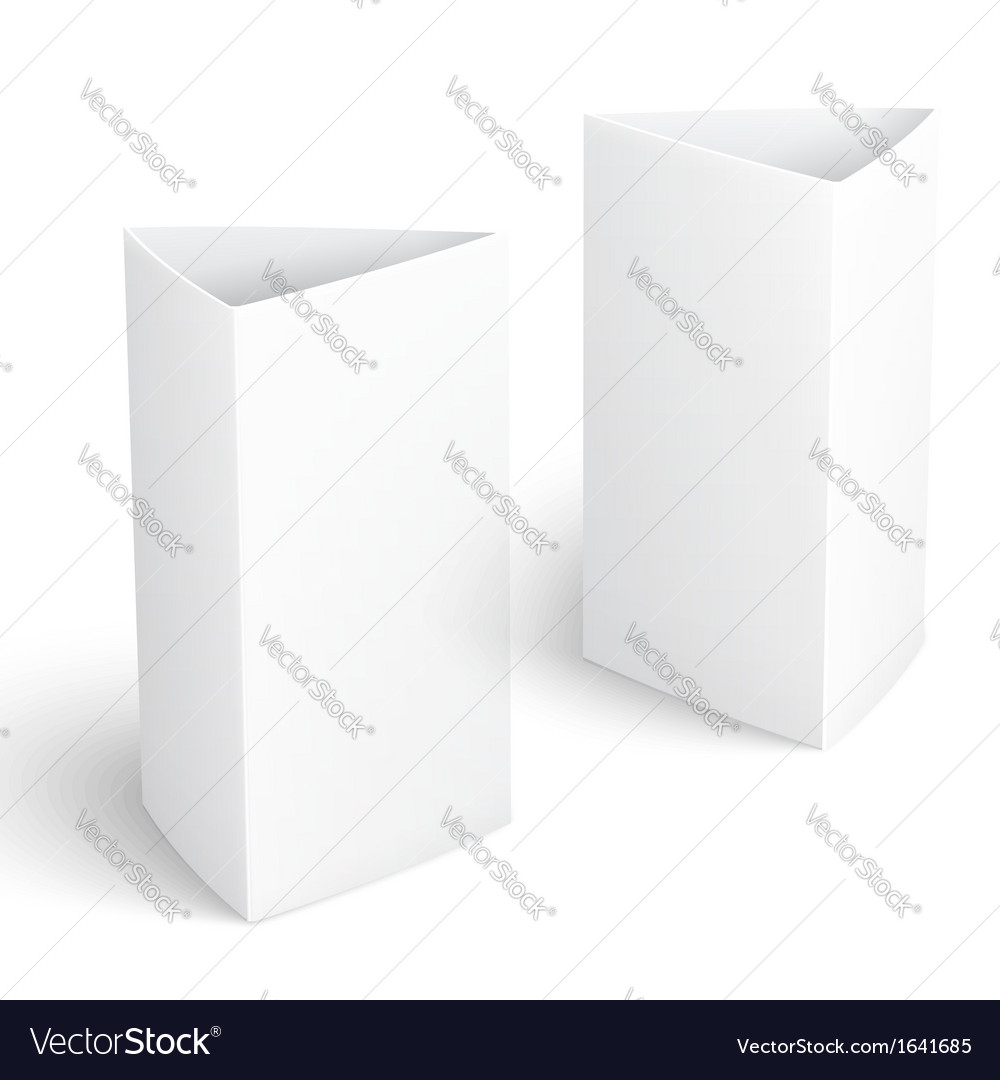 Blank paper vertical triangle cards vector image