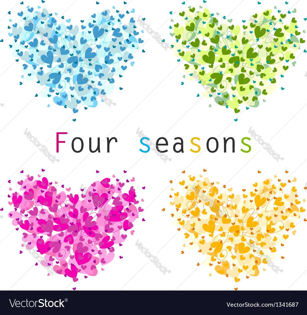 4 seasons vector image