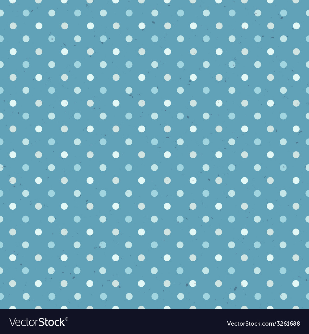 Blue seamless polka dot pattern textured vector image