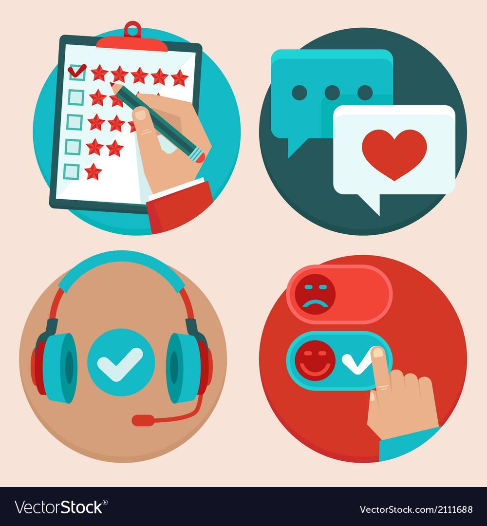 Customer feedback vector image