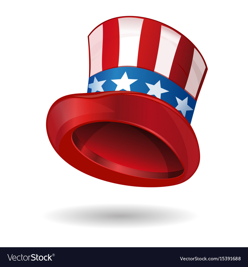 Hat in american flag color uncle sams hat vector image