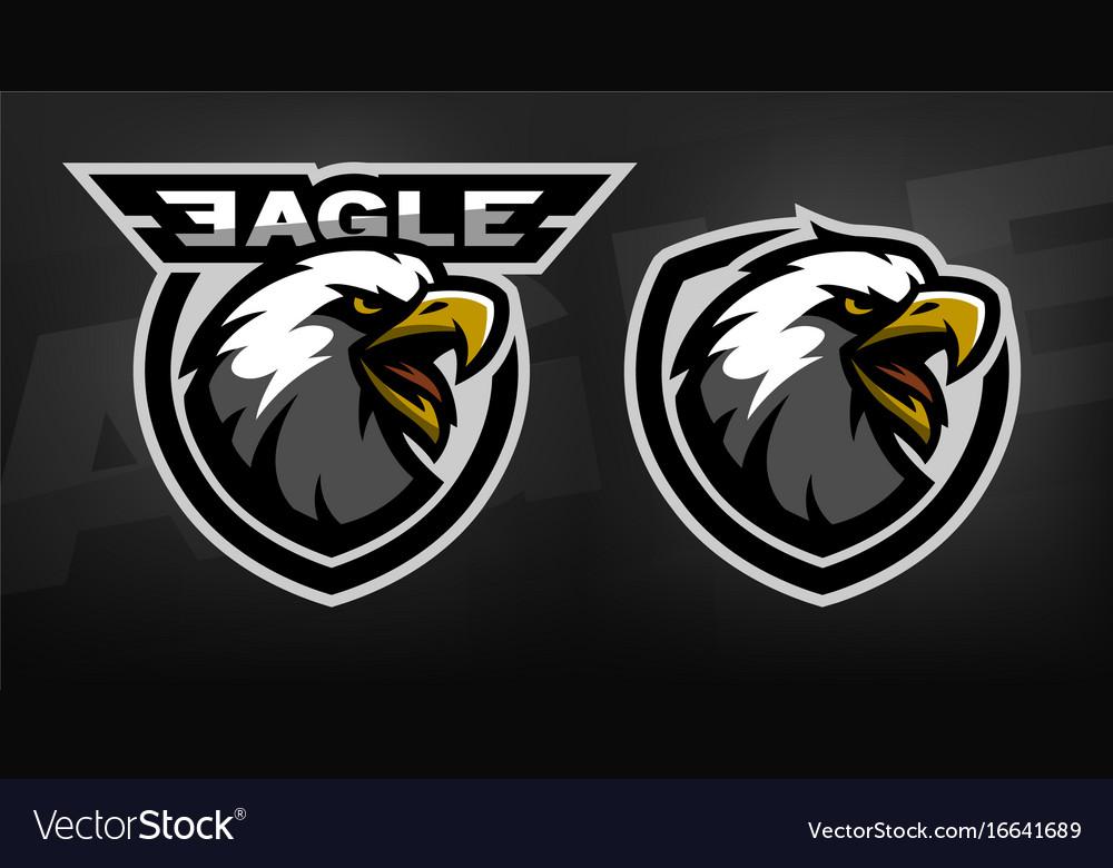 Head of the eagle sport logo vector image