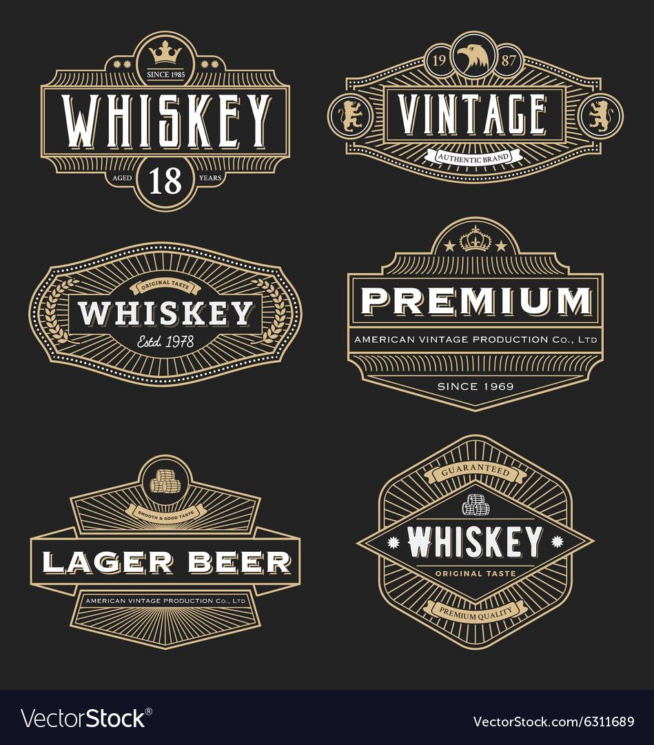 Vintage frame design for labels banner logo emblem vector image