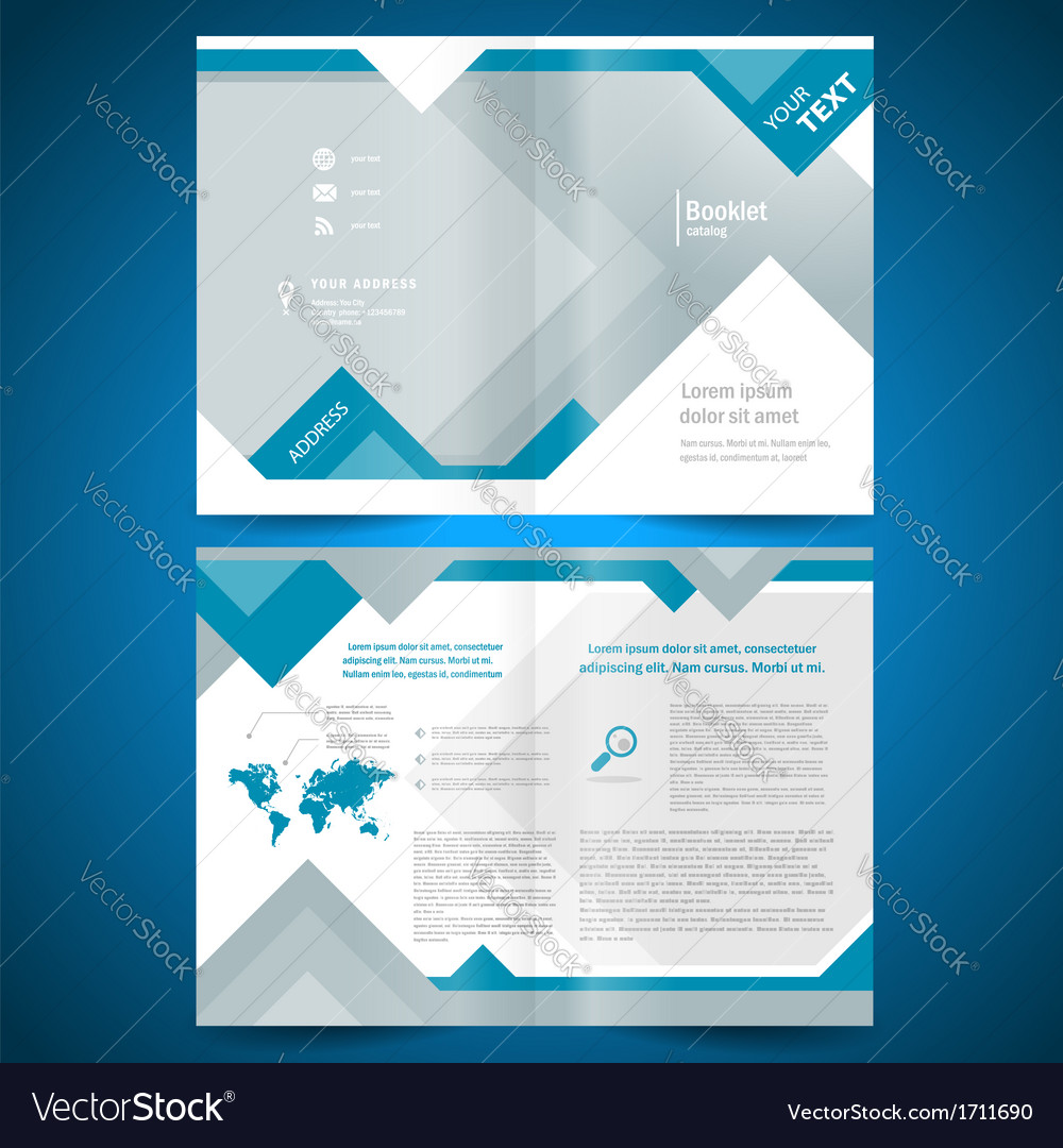 Brochure geometric triangle rhombus abstract vector image