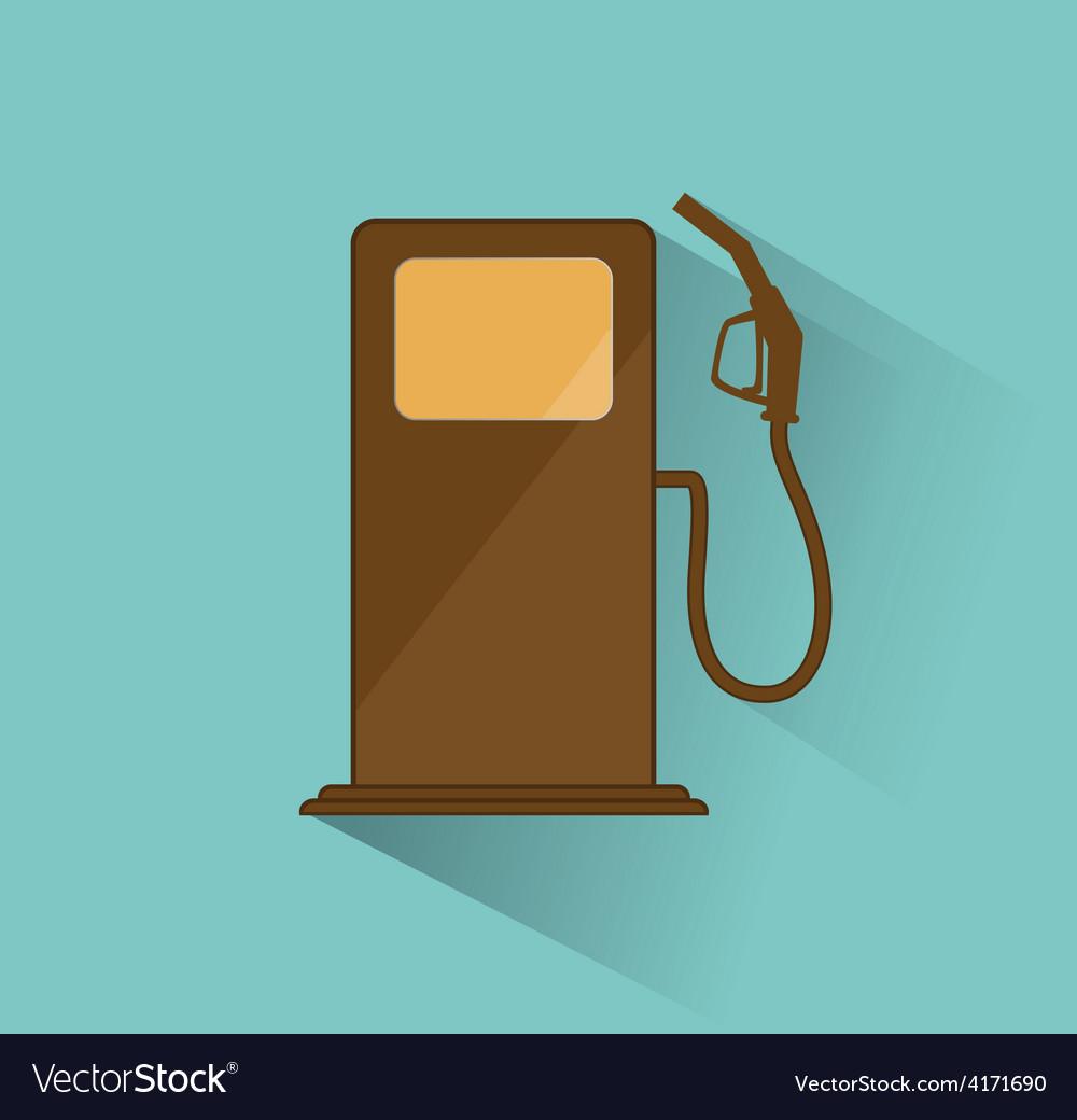 Gas station icon retro vector image