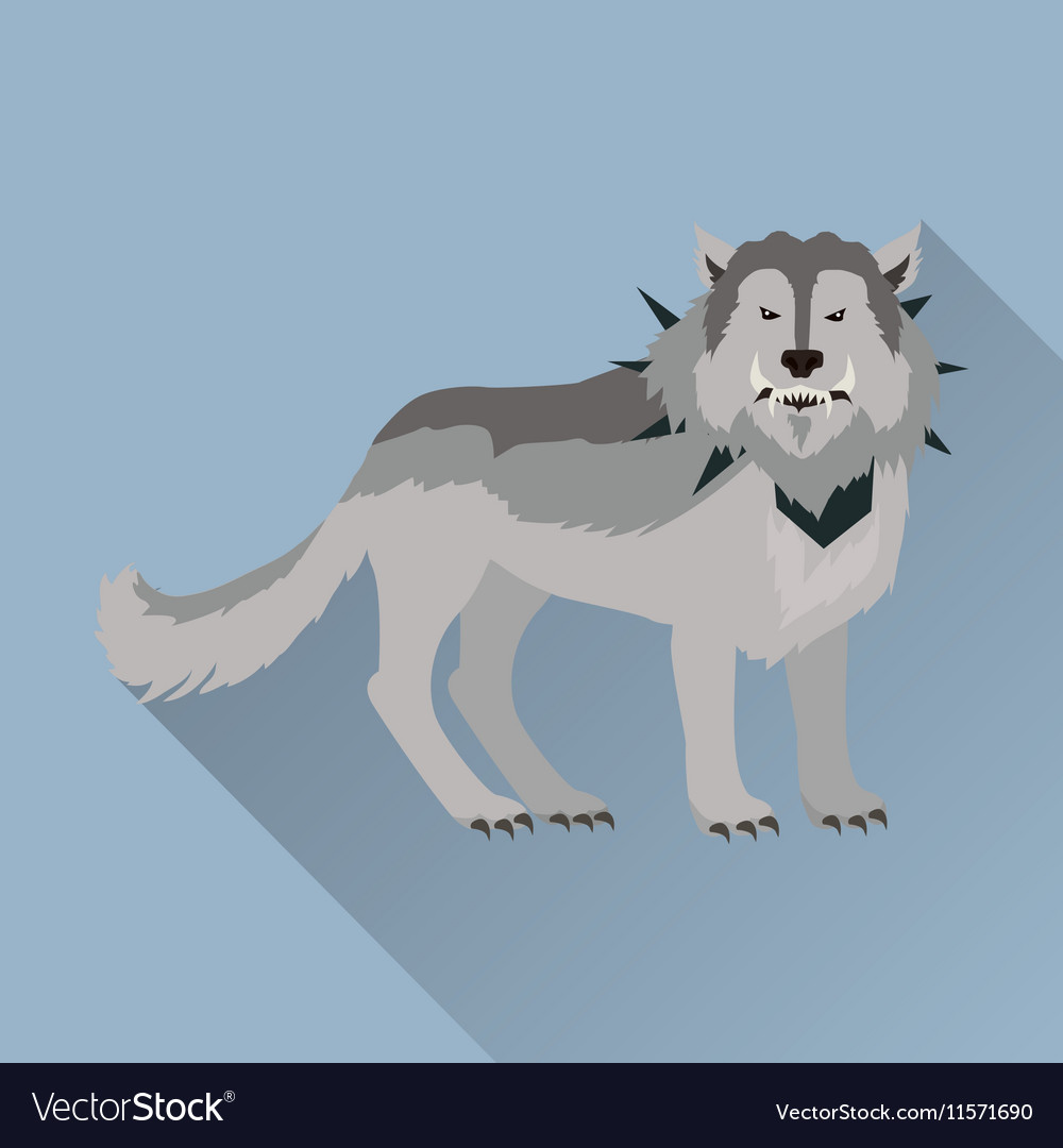 Grey Wolf in the Collar vector image