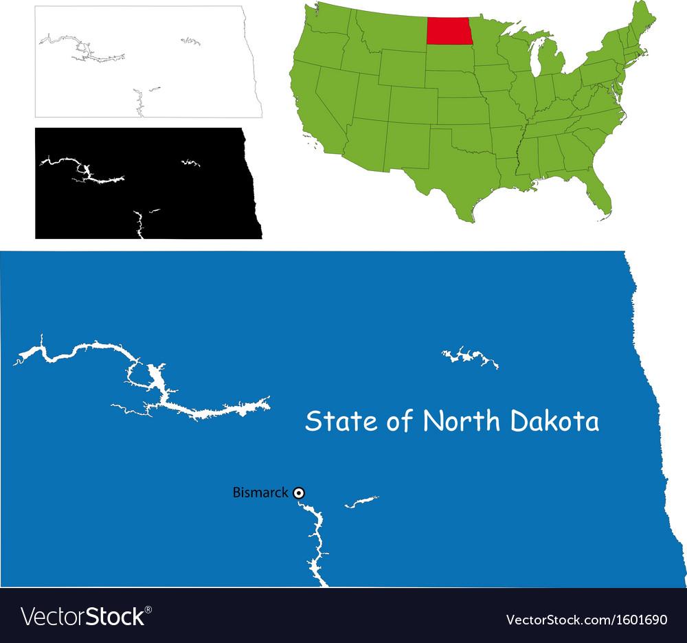 North dakota map Royalty Free Vector Image VectorStock