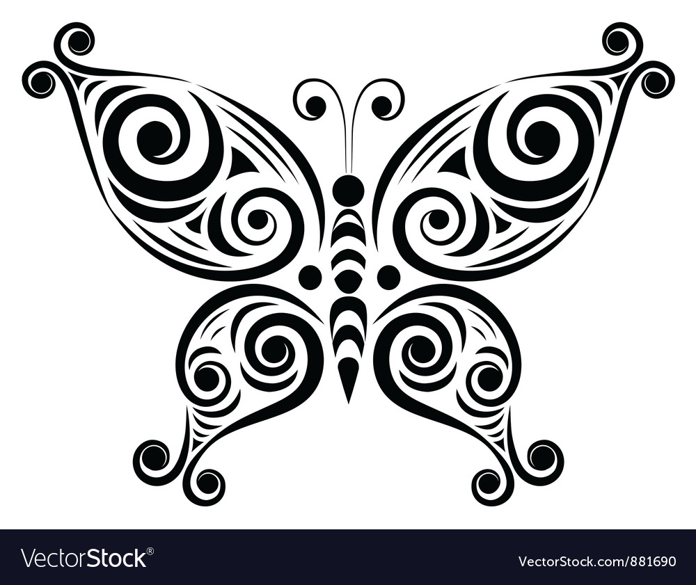 ornamental butterfly 2 royalty free vector image