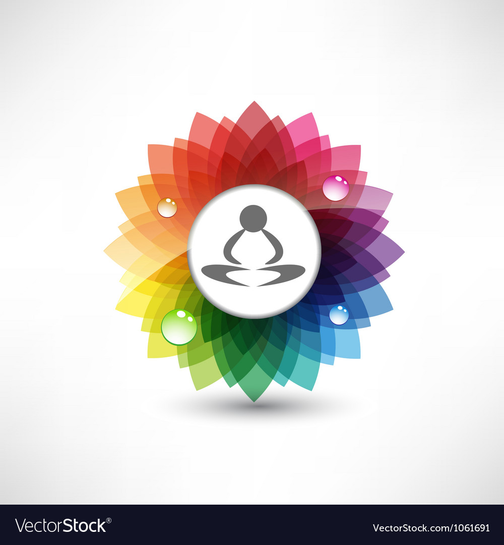 Yoga meditation vector image