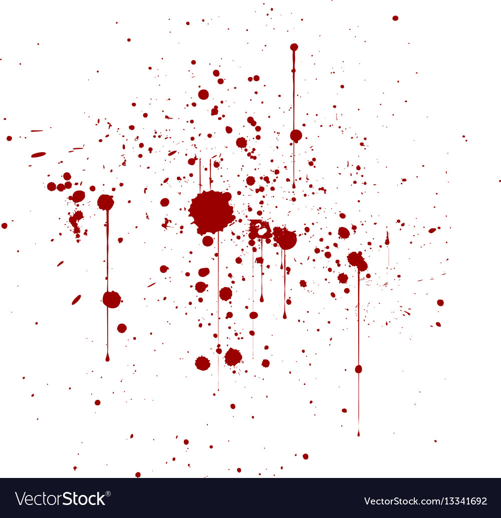 Abstract artistic paint splashes and blots in red vector image