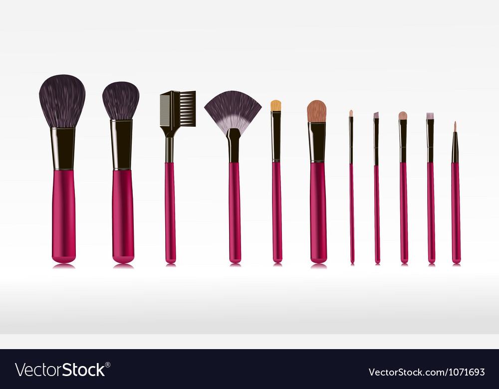 Makeup bushes set vector image