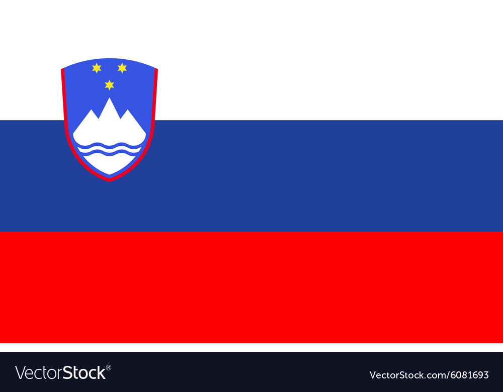 Flag of Slovenia vector image