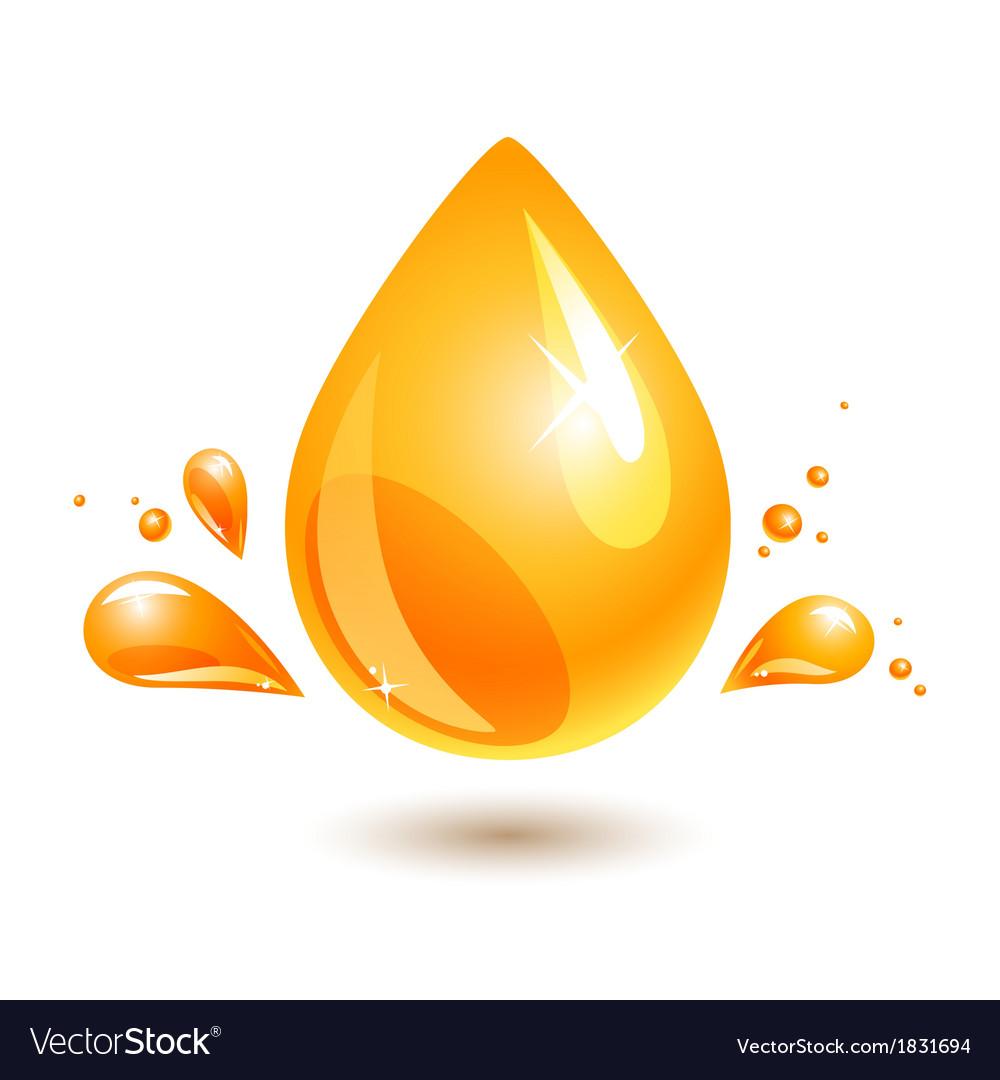 Oil drop vector image