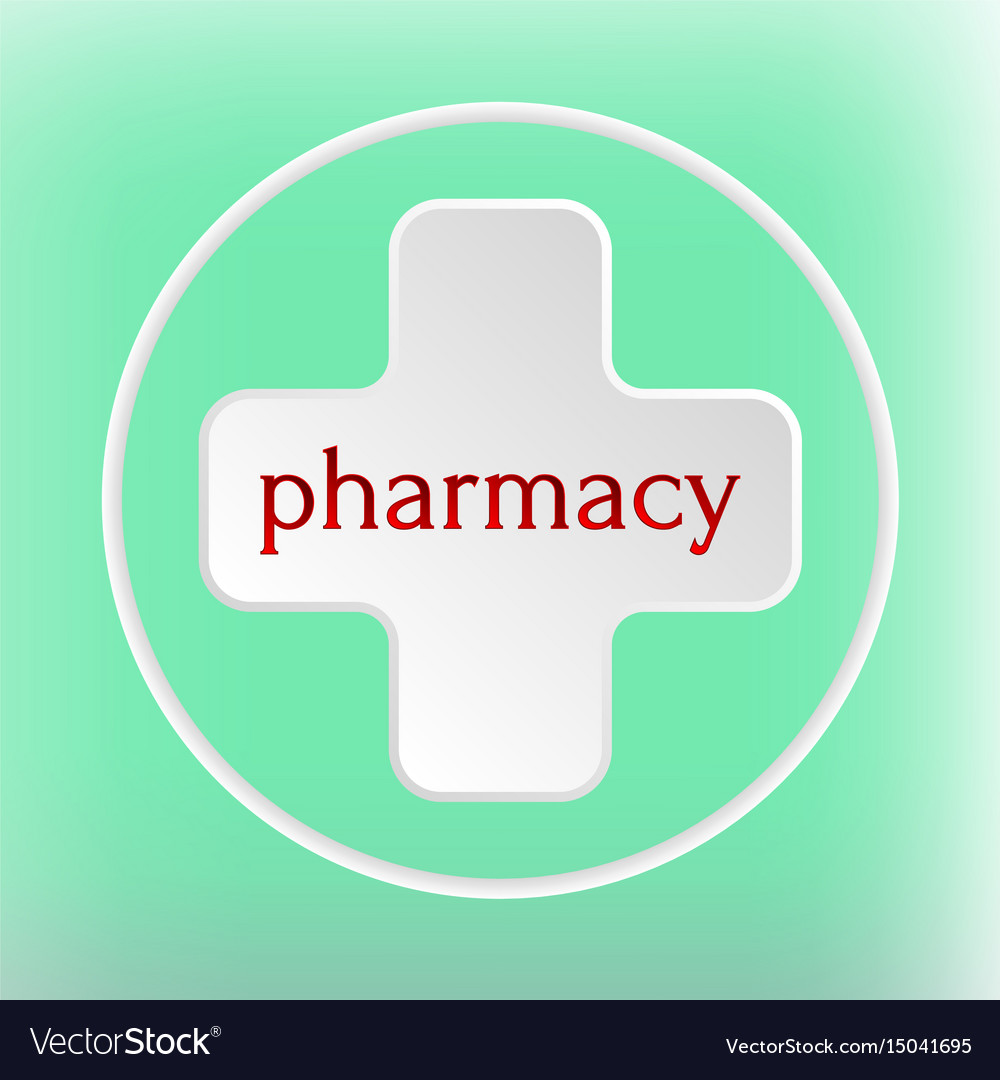 Pharmacy logo medicine white plus abstract design vector image