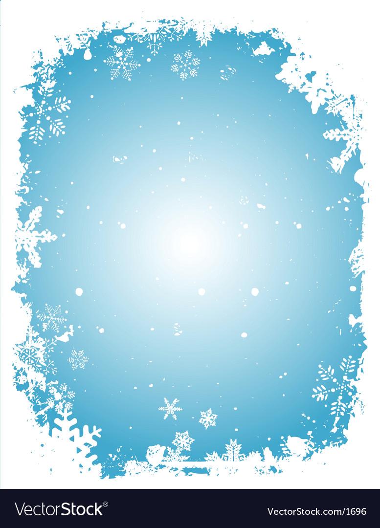 Grunge Christmas border vector image