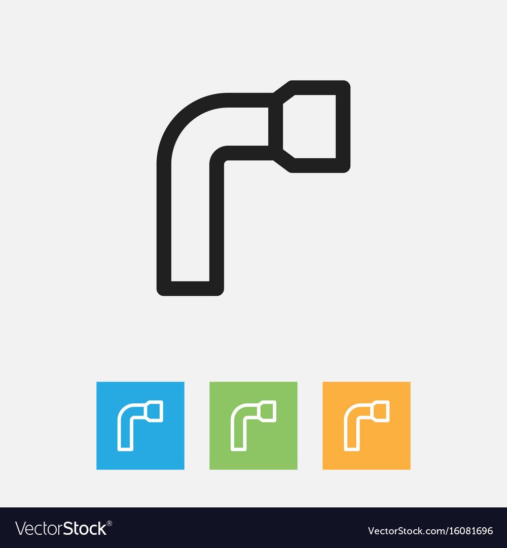 Of instrument symbol on key vector image